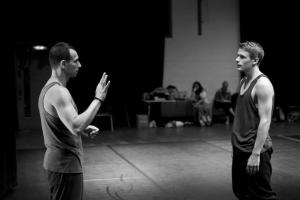 Yorgos teaching in a physical theatre workshop