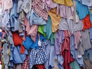 Clothes adorning Jubilee Clock Tower
