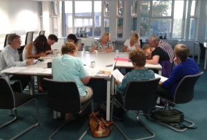 The writer's group in action