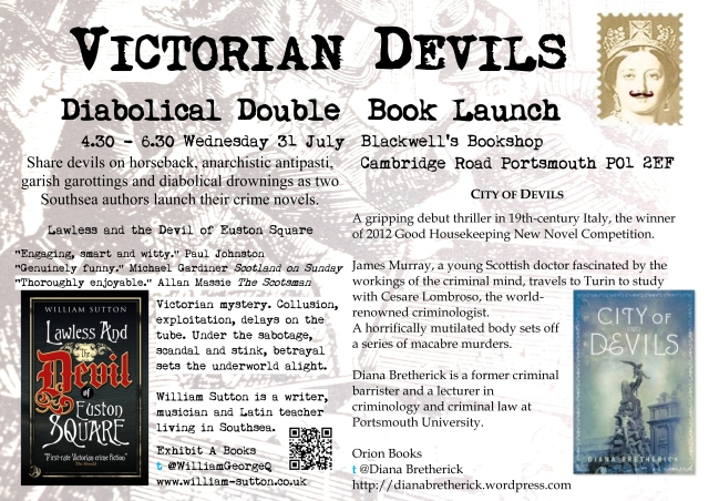 The flyer for the book launch