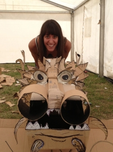Me and the Boxmouth Theatre dragon