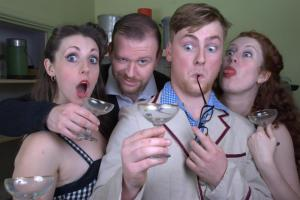 An Instant Soop! promo shot - the cast at The Cellars was slightly different
