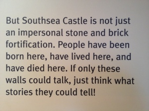 A paragraph on the first information board in the keep, and just the reason we were there!
