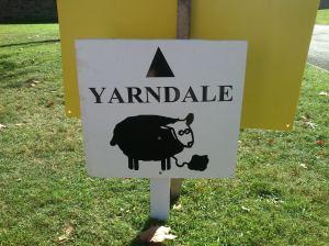 Yarndale sign