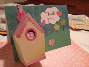 Bird house thank you card