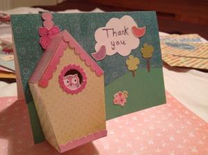 Bird house thank you card