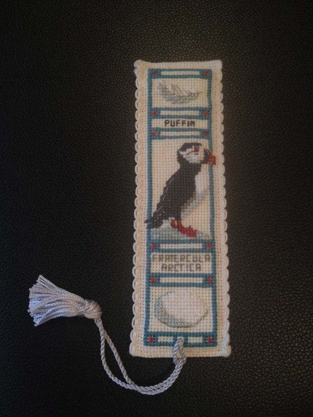 Amie's puffin bookmark