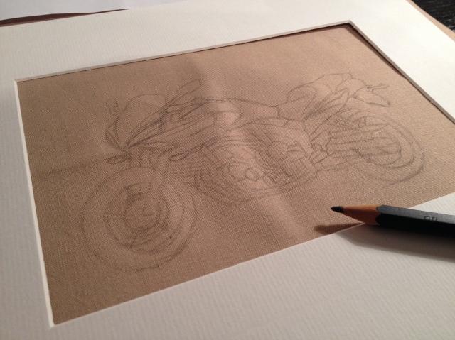 Motorbike sketch 2
