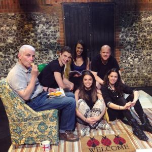 The Hobbs family - I'm back centre