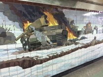 WW2 mural in Rostov