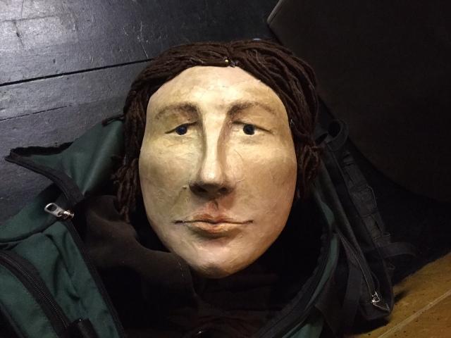 Oscar Wilde head puppet